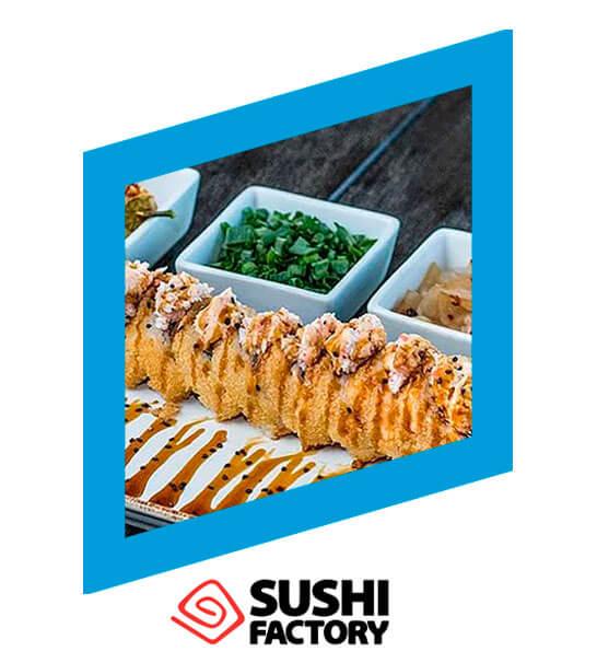 Rollo del mes Crush Roll 12 pzas. x $89 pesos - Sushi Factory