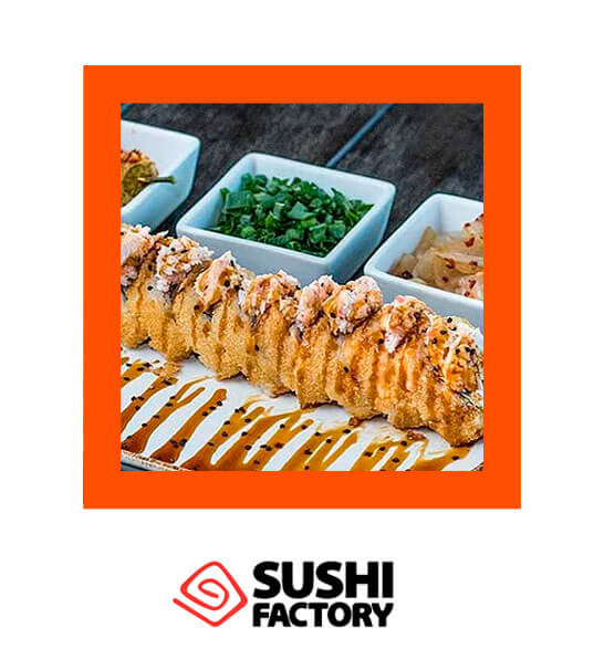 Rollo del mes Crush Roll 12 pzas. x $79 pesos - Sushi Factory
