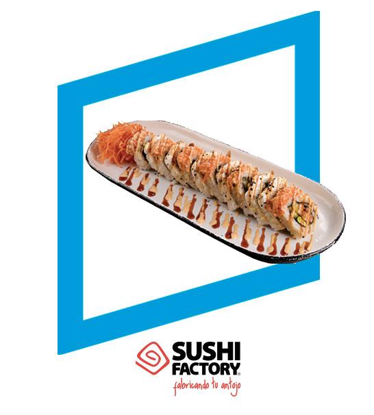 Rollo del mes Sun Roll 12 pzas. x $89 pesos - Sushi Factory