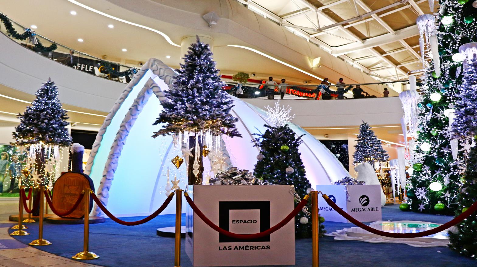 La Blanca y Mágica Navidad llegó a Espacio Las Américas