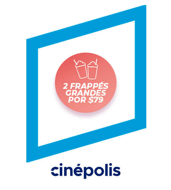 2 frappés grandes por $79 los jueves - Cinépolis