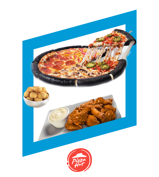Gran Hut Mix + Alitas 6 piezas ( 200gr) bufalo o BBQ + Quepapas + Refresco Familiar por $349 - PIZZA HUT
