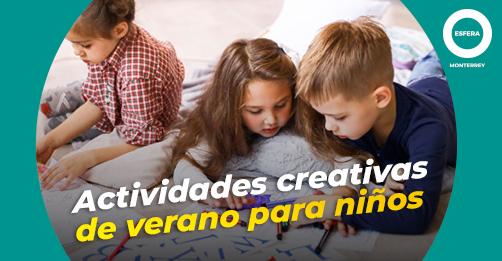 Actividades creativas de verano para niños