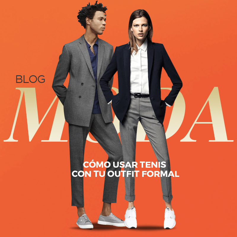 Cómo usar sneakers con tu outfit formal